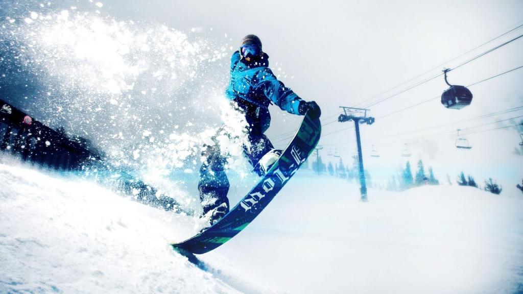 冬季运动之滑板滑雪