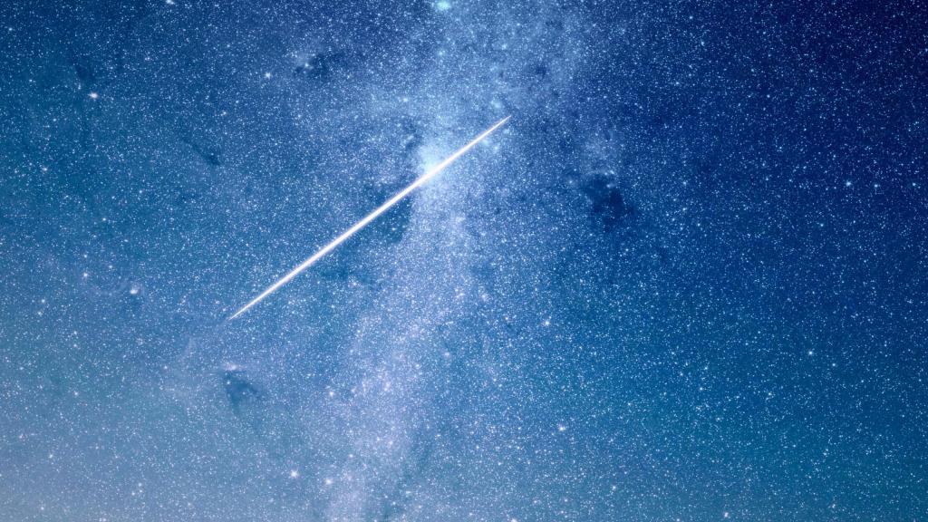 流星划过的夜晚