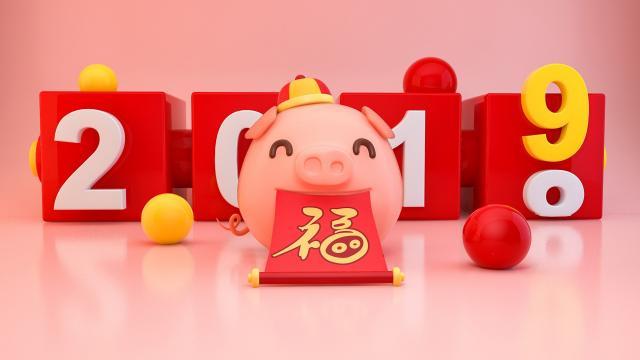 2019猪年创意文字设计