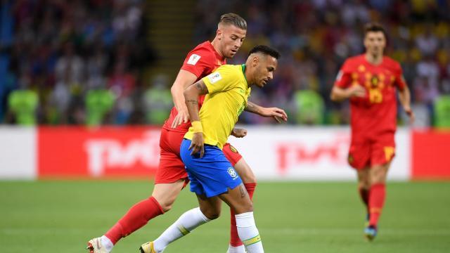 四分之一决赛比利时对阵巴西队精彩合集