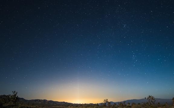 夜晚中最美的星空