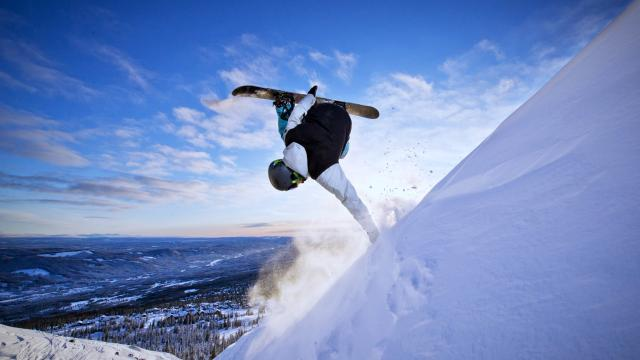 有趣的滑雪