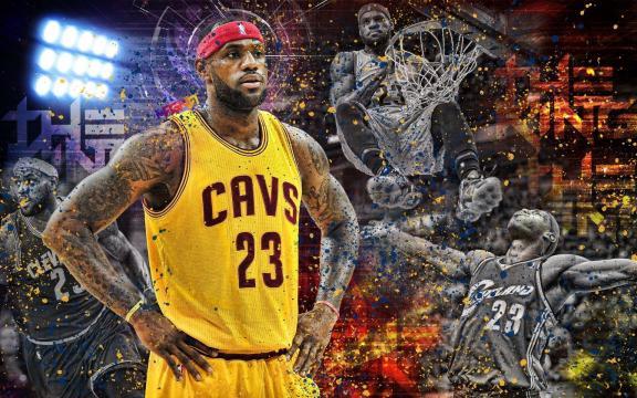 NBA超级巨星勒布朗·詹姆斯