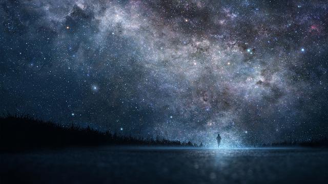 梦幻唯美的璀璨星空