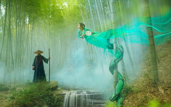 唯美青蛇梦幻摄影写真