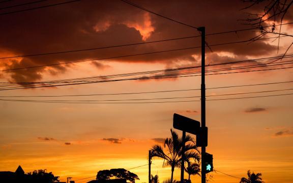 绚丽多彩的天空