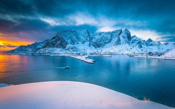 国外最美的雪山风景