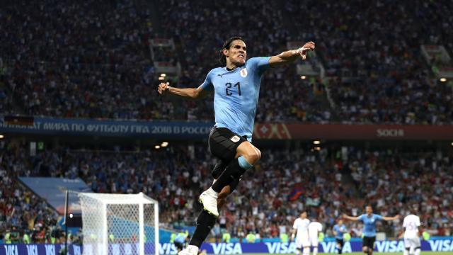 1/8决赛:乌拉圭2-1葡萄牙比赛集锦