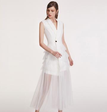 2018年创意新款晚礼服韩版蓬蓬裙