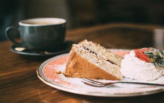 美味可口的小蛋糕饼干