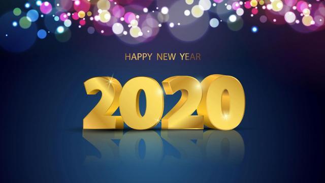 带2020数字的创意个性图片