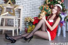 winnie圣诞美腿写真