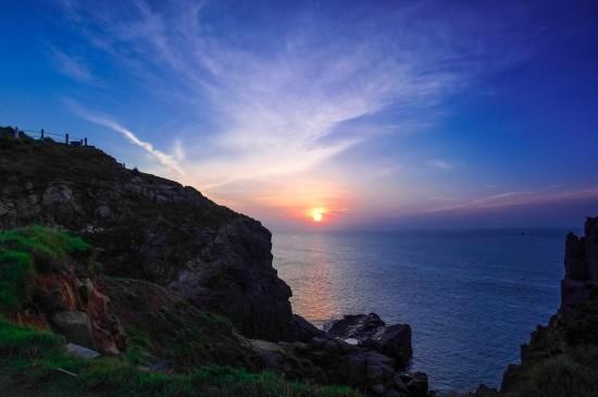 海岸日出日落