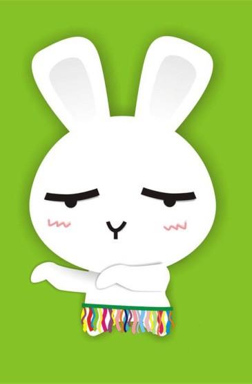 超可爱的卡通兔子