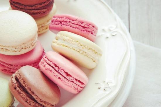 甜点可爱马卡龙