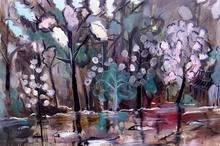 自然风景抽象油画