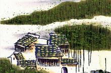江南水乡的春天水彩画