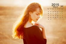2015年3月美女日历
