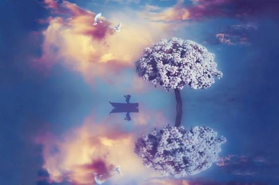 蓝色梦幻唯美风光