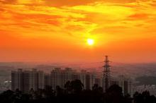早安海城城市唯美图片