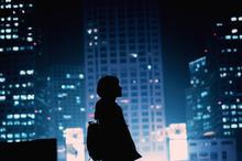 一个人的孤独城市夜晚