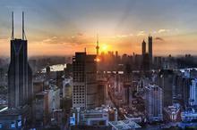 城市日出风光图片