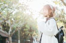 清新日系冬日少女写真