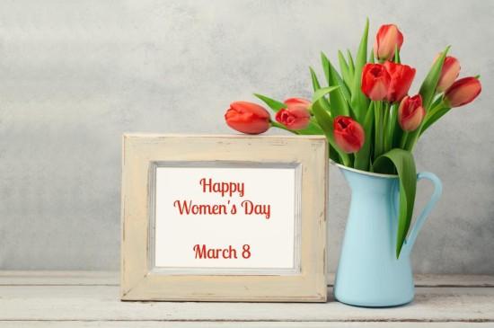 三八妇女节唯美红色花卉