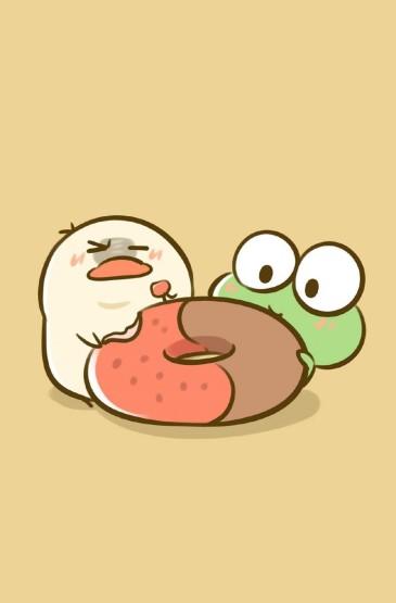 萌系小动物可爱卡通手绘