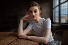 欧美模特优雅气质性感写真