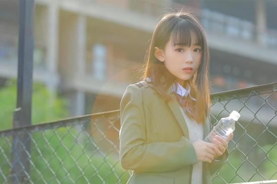 清纯萌妹jk制服校园养眼可爱写真