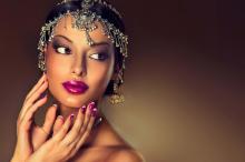 印度彩妆美女人体艺术