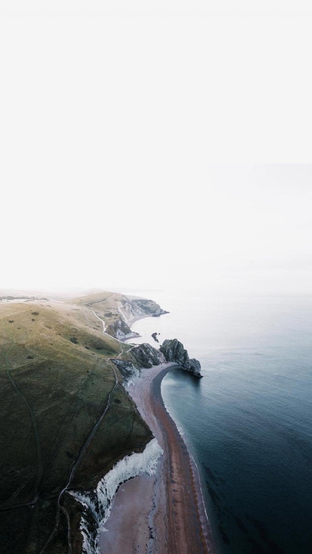 英吉利海峡多佛白崖风光