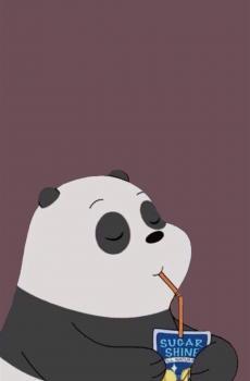 咱们裸熊可爱卡通锁屏