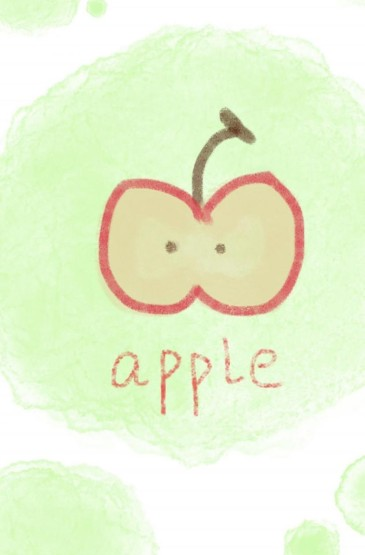 充满童趣的手绘水果插画