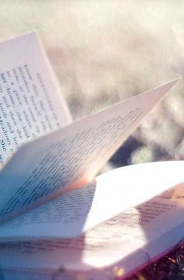 文艺风书籍阅读锁屏