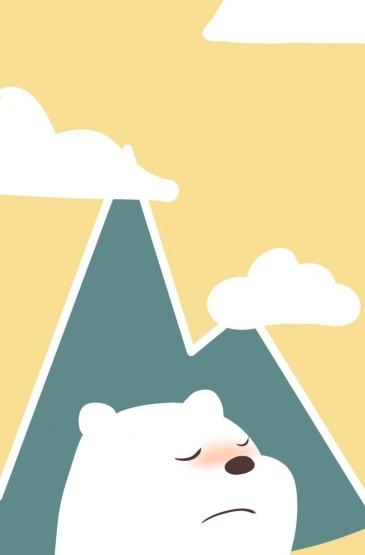 咱们裸熊呆萌卡通手绘插画