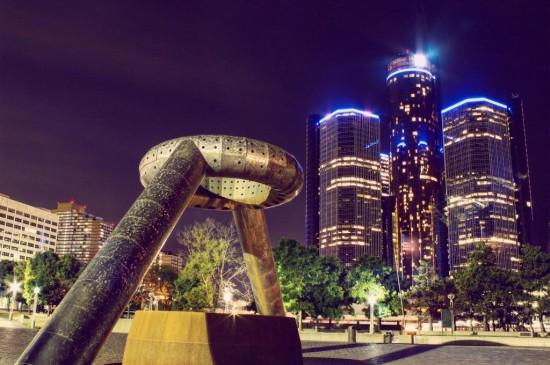 底特律的城市建筑风格多种多样