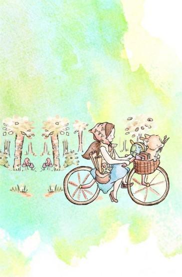 温馨治愈系兔子插画