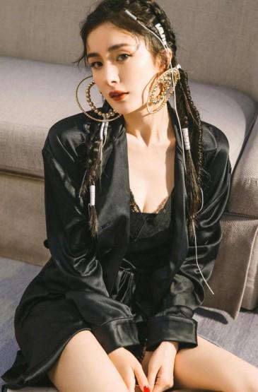杨幂时尚休闲潮流迷人写真