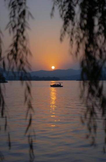 杭州西湖唯美黄昏