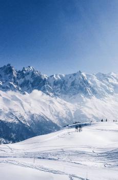 壮丽雪山风光